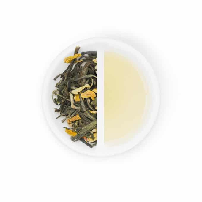 Hvid og grøn te med grape & blomster