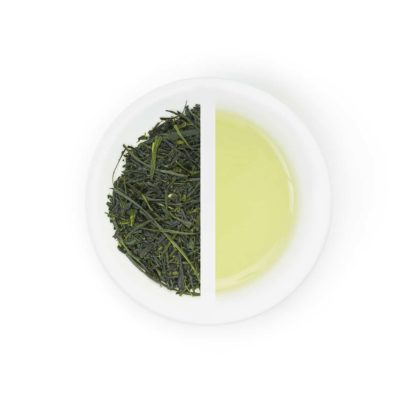 Sencha limited dry leaves and tea